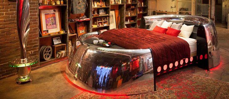 Роскошная мебель из отслуживших своё деталей самолётов от компании MotoArt