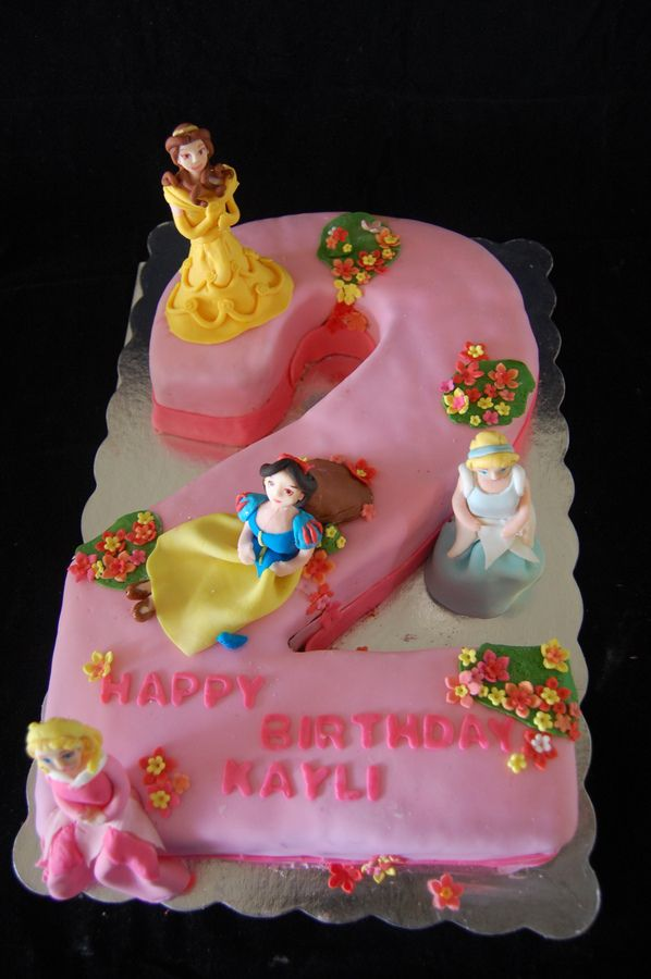 number cakes | Princess number 2 cake — Children's Birthday Cakes