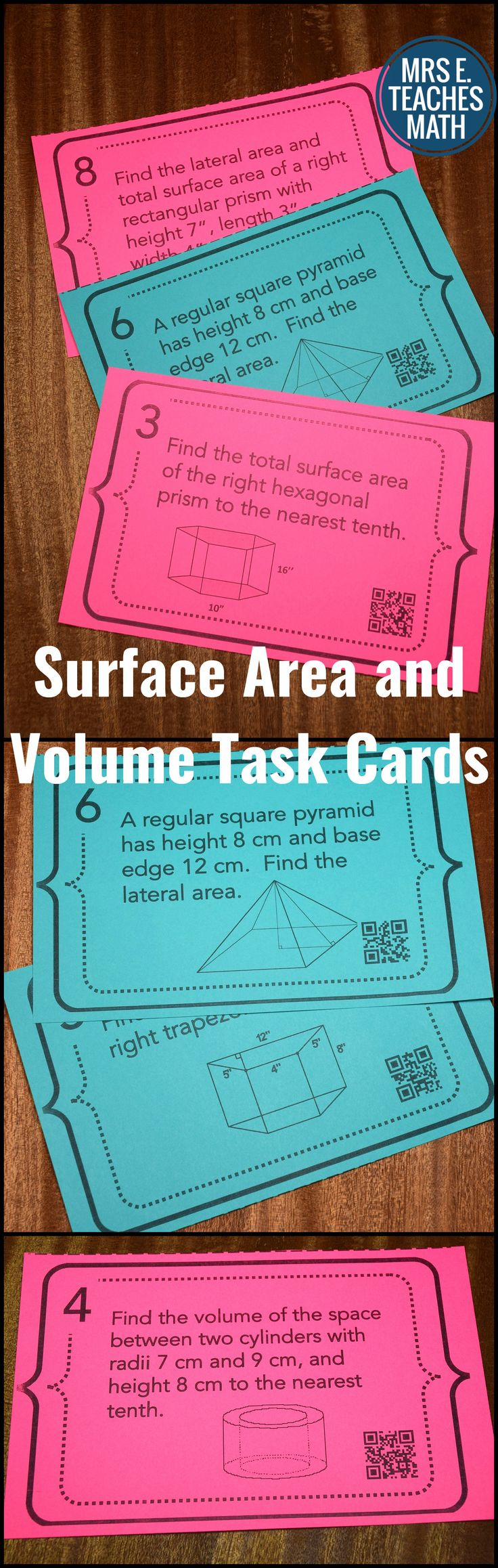 Best 25 area games ideas on pinterest area and perimeter games surface area and volume task cards ccuart Images