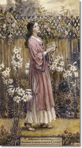 Cicely Mary Barker - Religious Works - St. Cicelys Garden 1920 Painting
