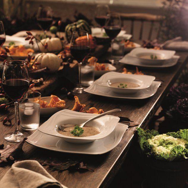 Stół - jesienna aranżacja. Fot. Fyrklövern