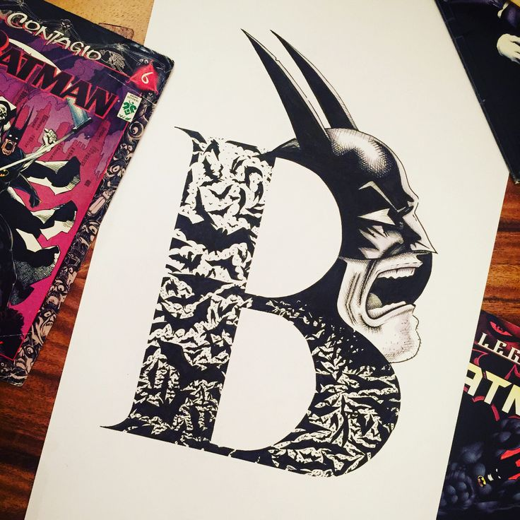 Alphabet series, B for Batman, 🦇🦇🦇 from childhood my favorite superhero, slide for more derails and sketches... enjoy!