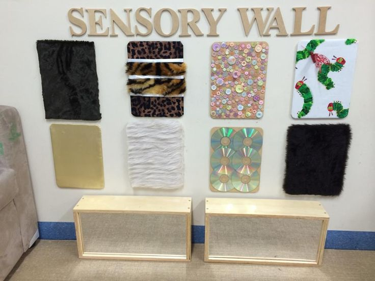 Sensory wall.  Accessed from EYLF/NQF - Ideas & Discussions (facebook page)