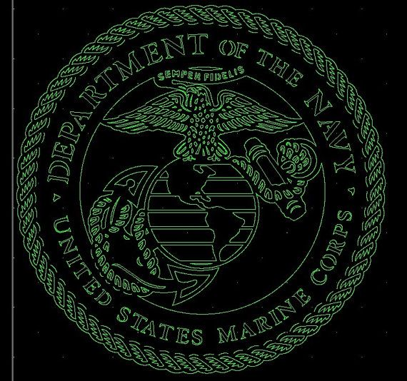 Marines Navy insignia DXF for CNC router Plasma by ArcInnovations