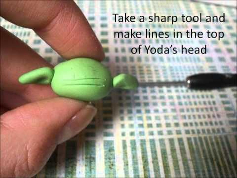 Kawaii yoda polymer clay tutorial  youtube
