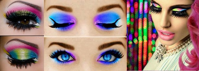 Neon make-up oogschaduw ogen fluror hot or not