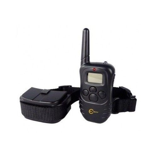 Dog Collar 300m 100 LV Remote Control Electric Training Shock Vibration LCD Beep
