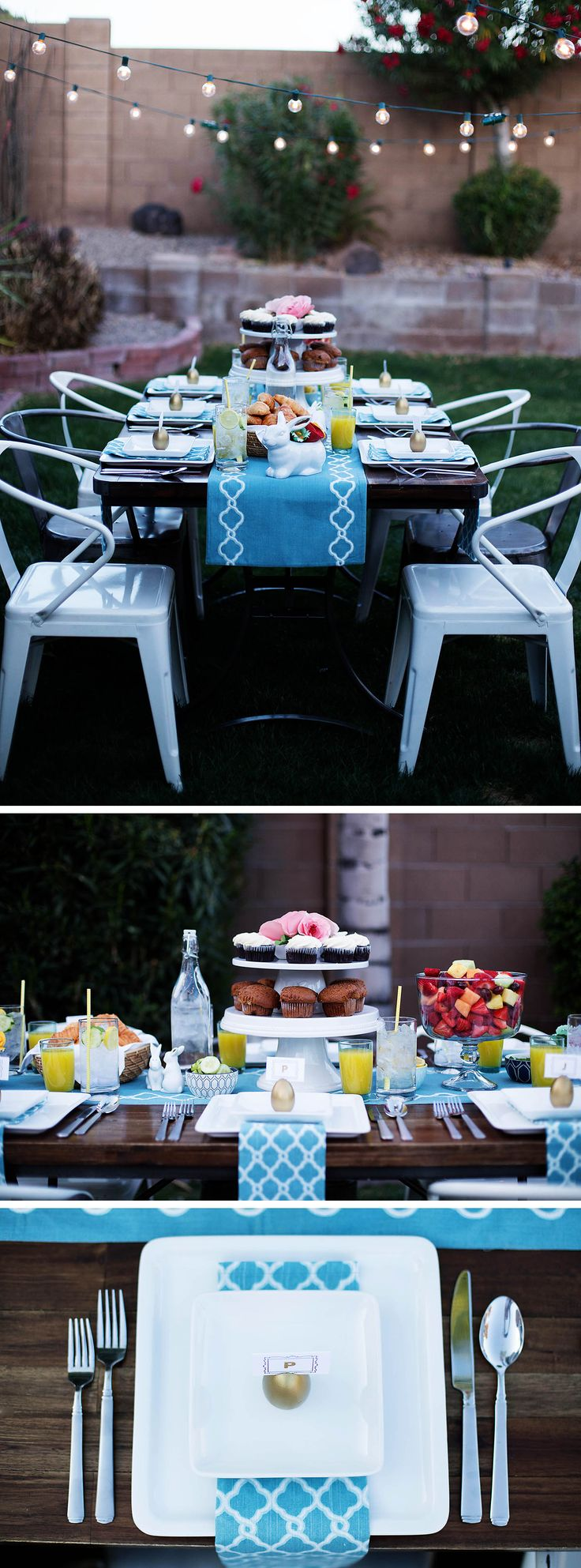 Easter String Lights Target : Loving @allison_waken s beautiful outdoor table setting for Easter. Whether its string lights ...
