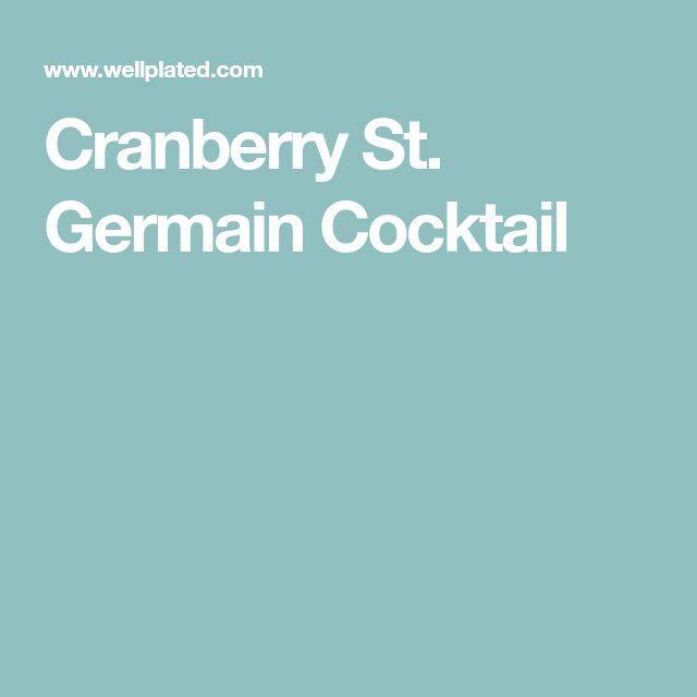 Cranberry St. Germain Cocktail