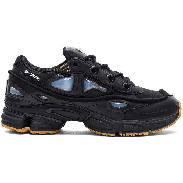 adidas by Raf Simons Ozweego ($460) ❤ liked on Polyvore featuring men's fashion, men's shoes, men's sneakers, sneakers, mens leather sneakers, adidas mens sneakers, adidas mens shoes, mens lace up shoes and mens leather lace up shoes