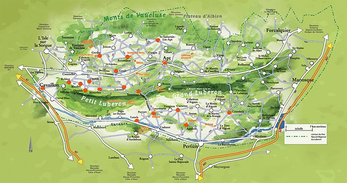 #Luberon #map #carte #provence #paca #alpesdehauteprovence ...