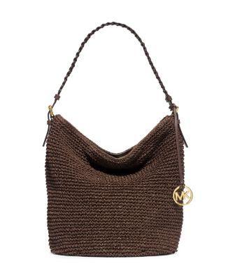 Lola Large Raffia Shoulder Bag