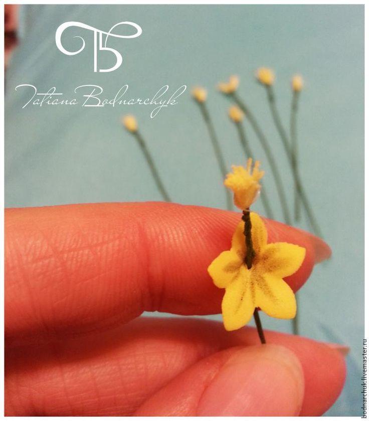Создание полевых цветов из фоамирана: весенники - Ярмарка Мастеров - ручная…