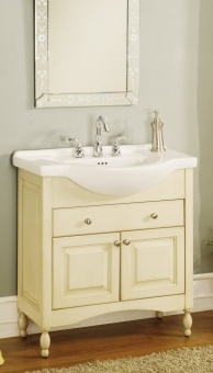 34 Inch Single Sink Narrow Depth Furniture Bathroom Vanity With Choice Of Finish And Uveiw34