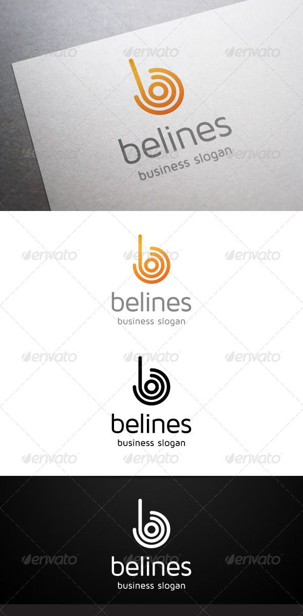 Belines B Letter - Logo Design Template Vector #logotype Download it here: http://graphicriver.net/item/belines-b-letter-logo/4737668?s_rank=439?ref=nexion
