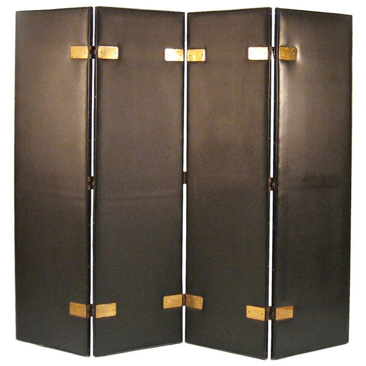 Skai Screen Attributed To Jacques Adnet France 1940s Folding Screensroom Dividers1940sbrass