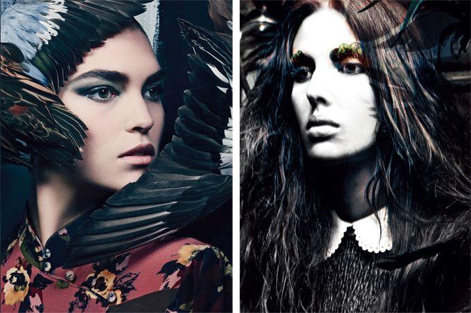 Готический шик в Vogue Italia