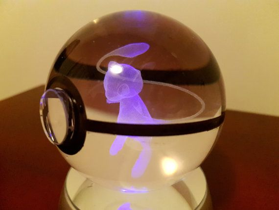 Welcome! Behold! The highest quality hand crafted K9 Crystal Glass Pokeballs with laser engraved pokemon inside. Each ball is 80mm (approximately 3 inches) and has a clear glass button on the front and a hand-painted black band around the sides just like a real pokeball! We have the best quality Pokeballs on etsy for the best price! What better way to show off your love of Pokemon than collecting your very own! Or give it as a gift to someone special to you…