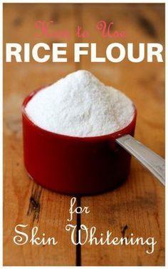 rice flour for skin whitening