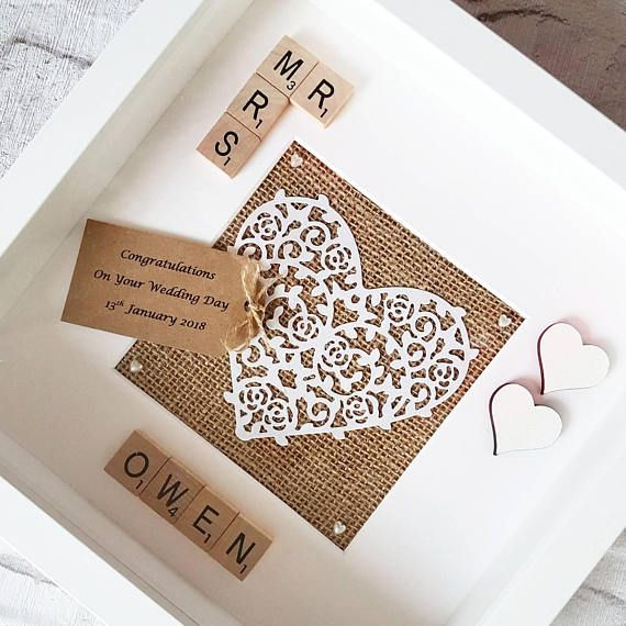 Check out this item in my Etsy shop https://www.etsy.com/uk/listing/386559408/personalised-mr-and-mrs-wedding-frame