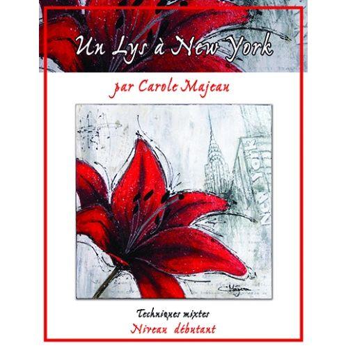 Création de Carole Majeau - Patron d'un projet à faire en techniques mixtes, à l'acrylique, peinture sur porcelaine, sur verre, hibiscus, fleur, New York