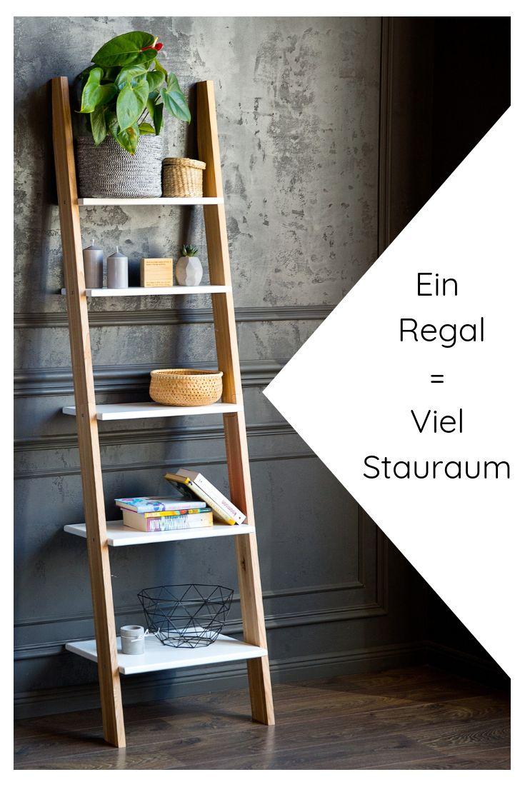 Leiterregal Holz in modernen Farben online kaufen – Deko Inspiration