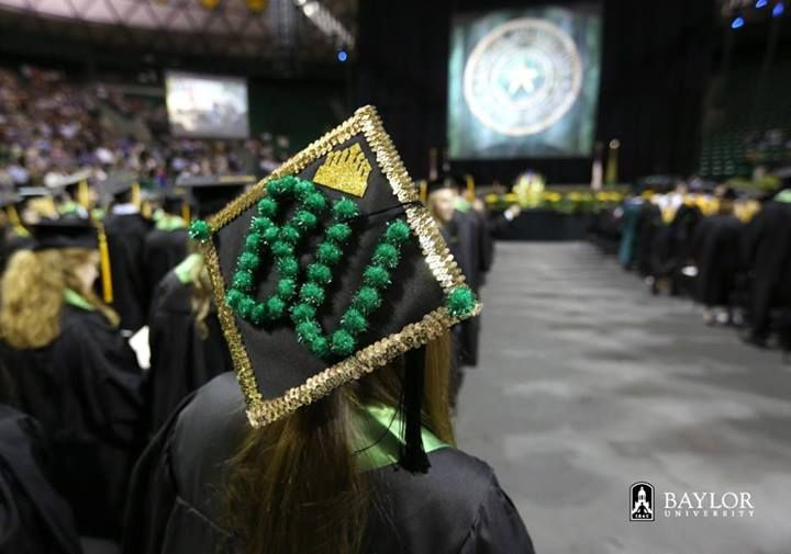 Crazy mortarboard at #Baylor University graduation, May 2013: Photo