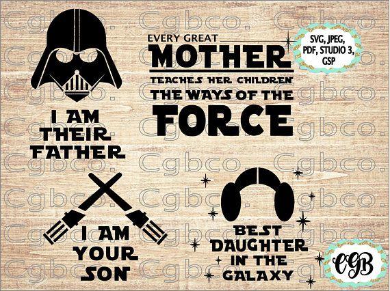 I am their father, star wars svg, star wars cut file, disney
