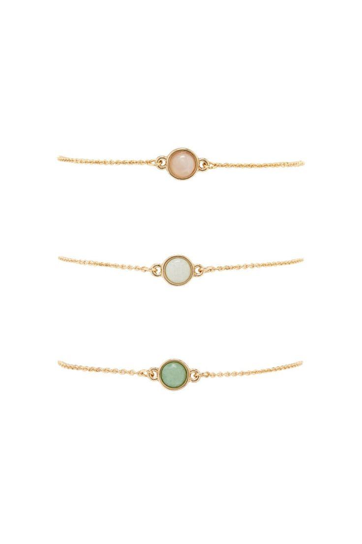 Circular Faux Gem Bracelet Set