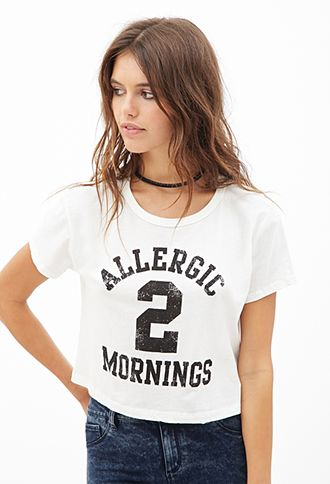 Morning Allergy Graphic Tee   FOREVER21 - 2053007577