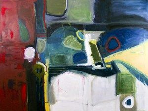 """the edge - 36"""" x 48"""" - $2600 - oil on canvas by Marlene Lowden (framed)"""