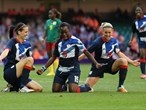 Jill Scott of Great Britain celebrates scoring a goal against Cameroon