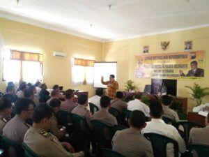 Polres Mojokerto Adakan Seminar Latihan Motivasi dan Kepemimpinan Dalam Rangka Pembinaan Mental