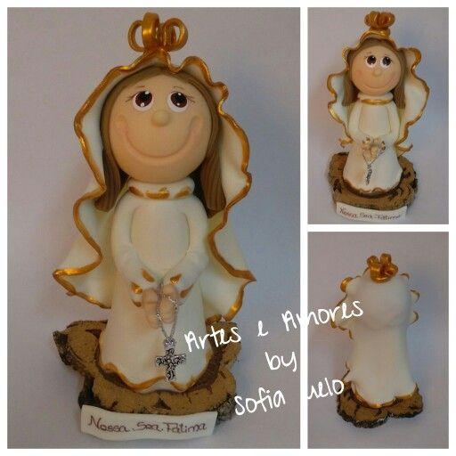 #biscuit #lembrança #anjos #natal Nossa Senhora de Fátima Alt apx: 12 cm Encomendas e mais informações: arteseamores@gmail.com