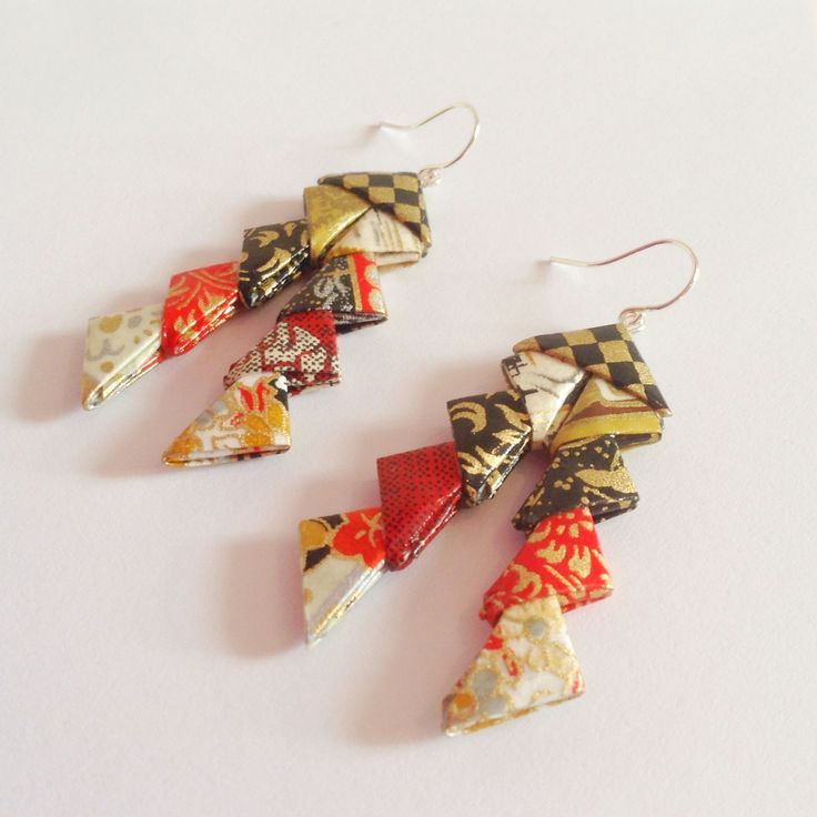 New #earrings - an #original Erigami #design! What do you think of the #style & #colours? We would love to hear from you!