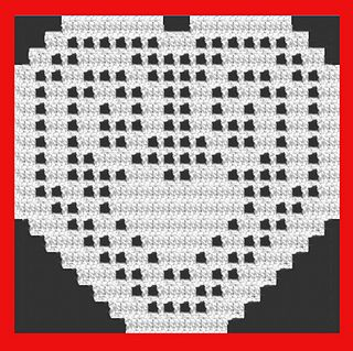 Valentines Heart 2016 - free filet-crochet pattern by Michelle Ryan.
