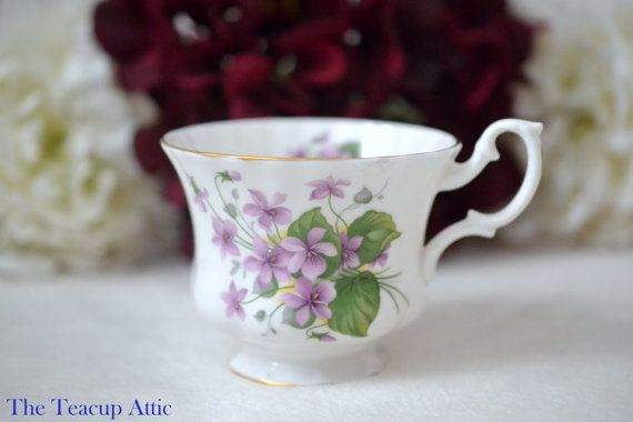 Royal Albert Replacement Teacup With Purple by TheTeacupAttic