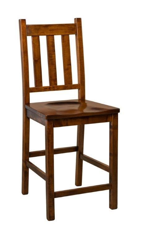 Amish Denver Mission Bar Stool These mission style bar chairs offer the most versatility for kitchen seating options and blend well with many decors.