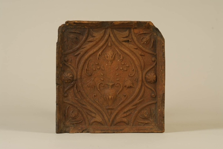 Tile from Kingdom of Hungary / Transylvania, 1665. Museum of Ethnography, Budapest (NM 41822)
