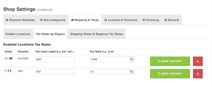 Configure regional tax tables in your ecommerce website to comply with local taxation laws.