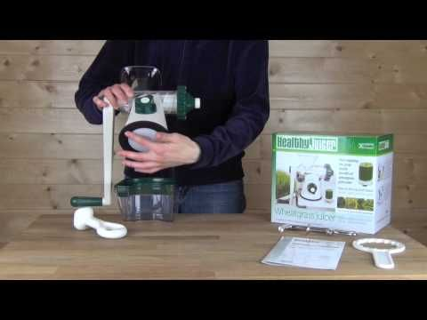 (40) Healthy Juicer Manual Wheatgrass Juicer Product Overview & Demonstration - YouTube