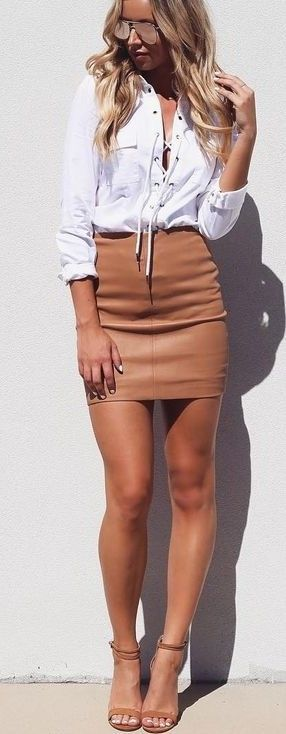 #summer #street #style   Lace Up + Leather