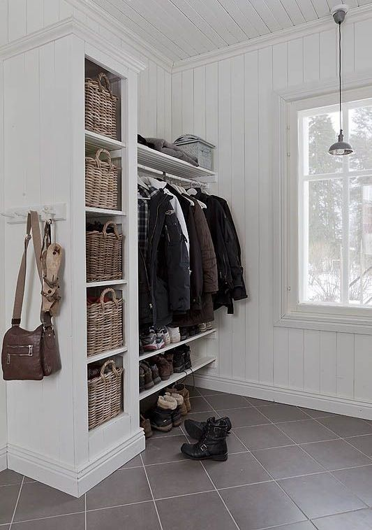 Mud room closet for a Canadian Winter