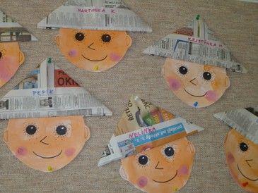 Skládání čepice z novin