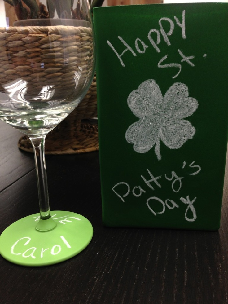 Learn how to throw a Chalkboard China #St.Patrick's Day Party! #green #emerald