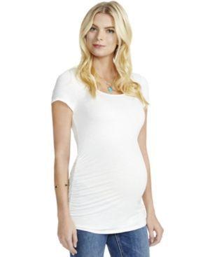 Jessica Simpson Maternity Cutout Top - White XL