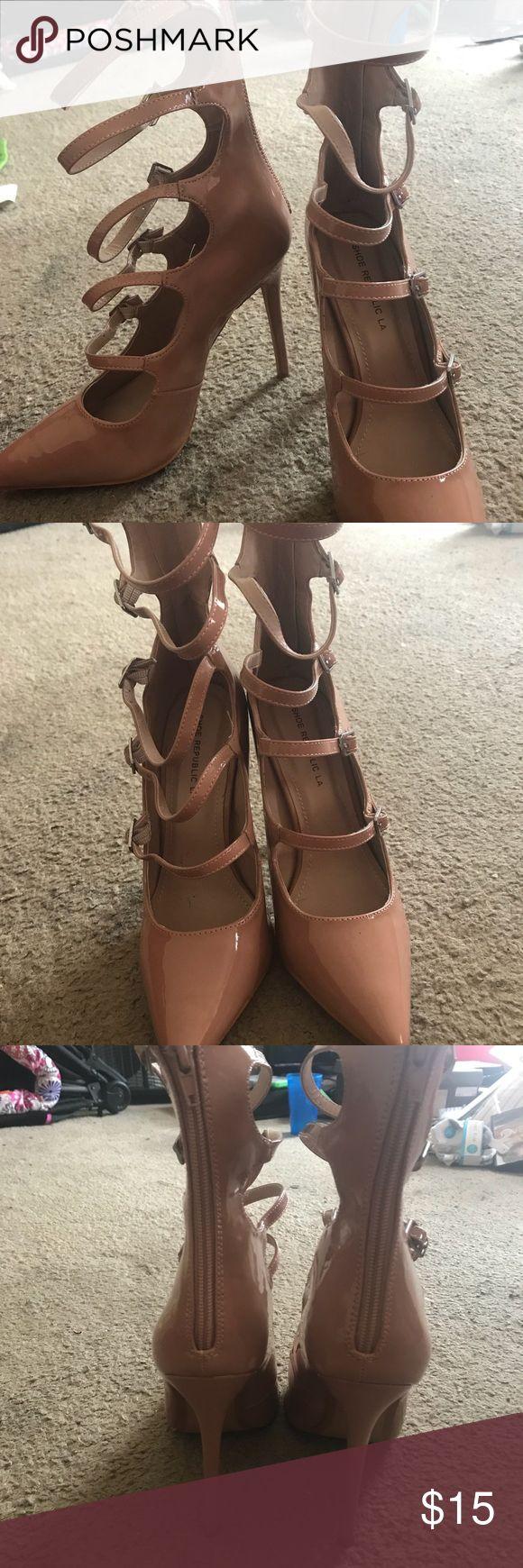 Strap up Heel Cute Nude Strap Up Heel Shoe Republic LA Shoes Heels