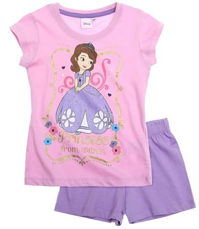 Disney Sofia the First Short Sleeve Pyjama purple