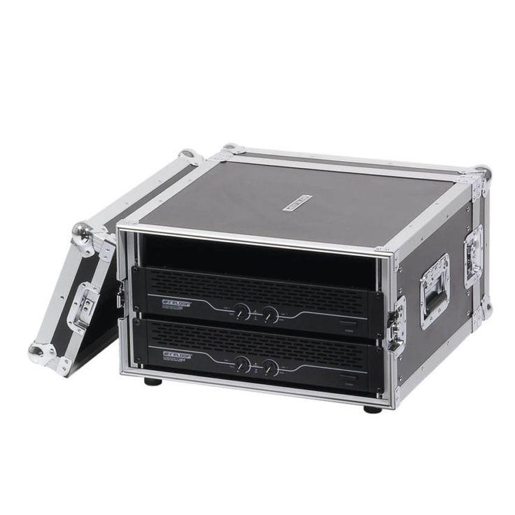 """Case Rack Reloop para equipos DJ de 19"""" (480mm) Diseño robusto en contrachapado laminado, Tapas separables, cierres tipo mariposa, empuñaduras resistentes."""