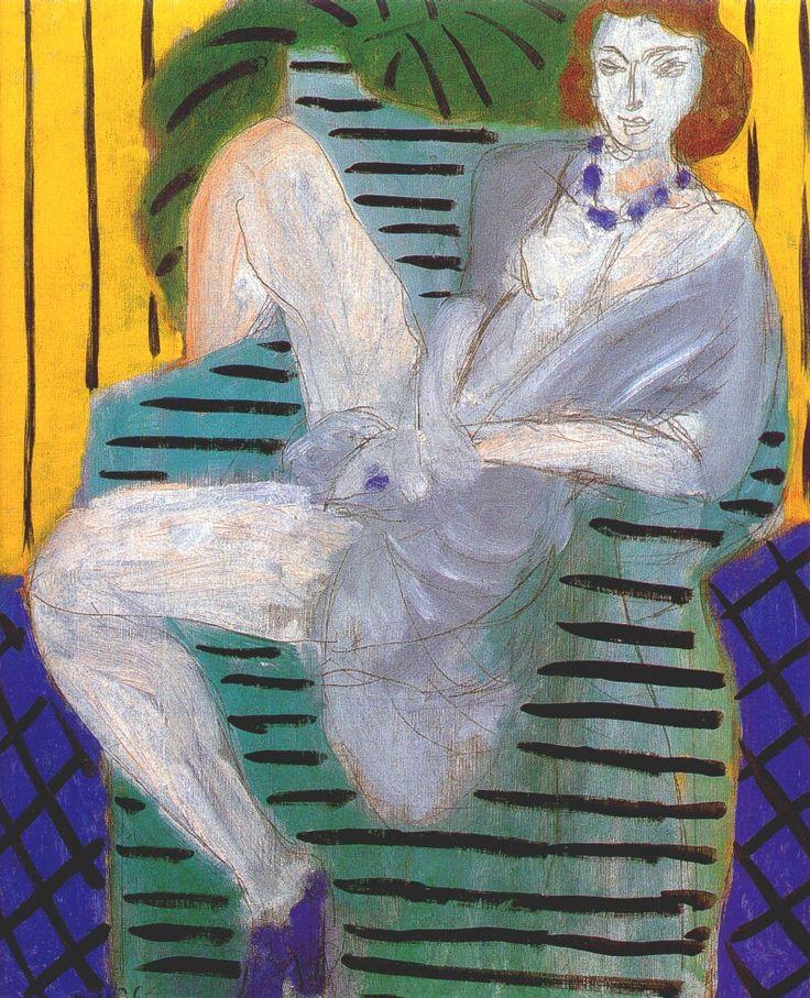 dappledwithshadow:Woman in Armchair, Henri Matisse1936